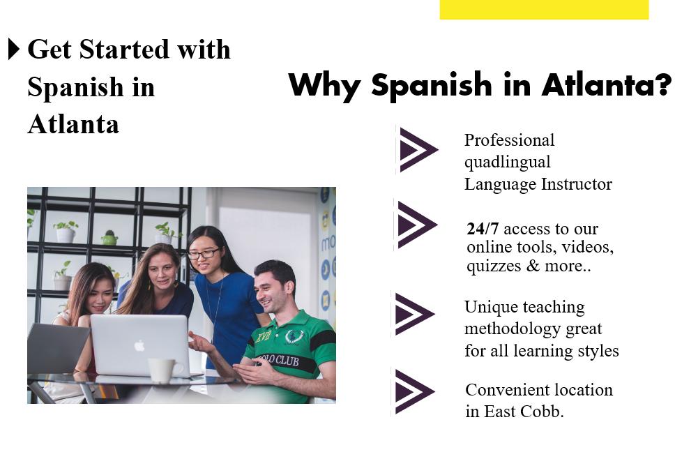 Adult Spanish classes private lessons marietta